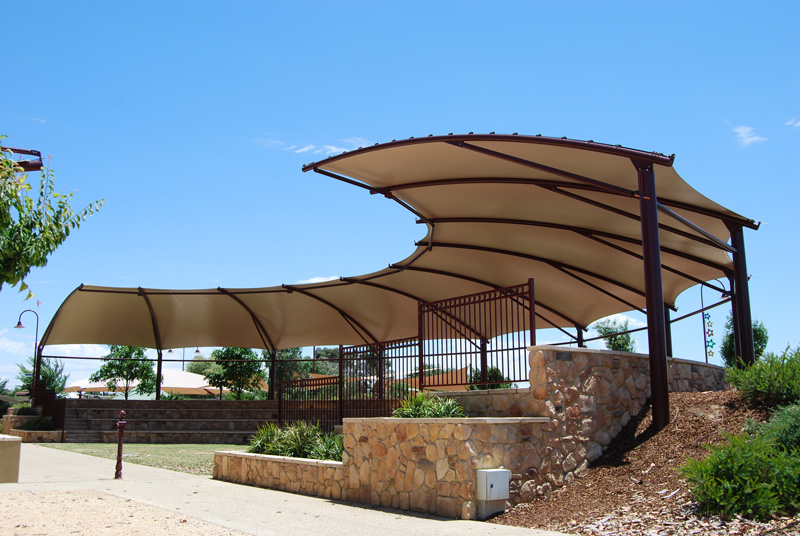 Commercial shade structures paradise shades for Steel shade structure design